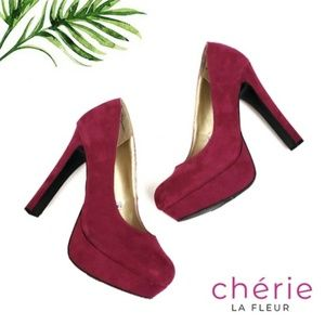 Mossimo | Berry Suede Pumps - Size 9